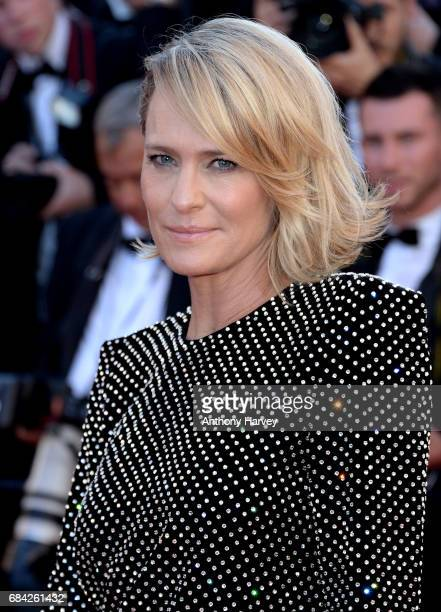Robin Wright attends the 'Ismael's Ghosts ' screening and Opening Gala during the 70th annual Cannes Film Festival at Palais des Festivals on May 17...