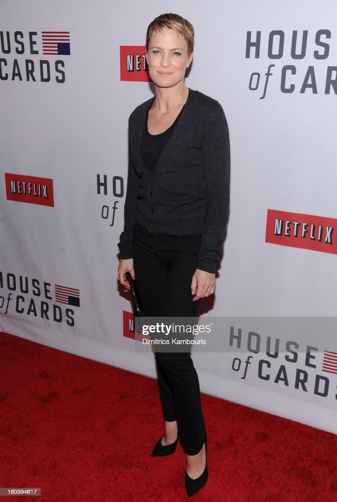 Robin Wright attends the Netflix's 'House Of Cards' New York Premiere at Alice Tully Hall on January 30, 2013 in New York City.