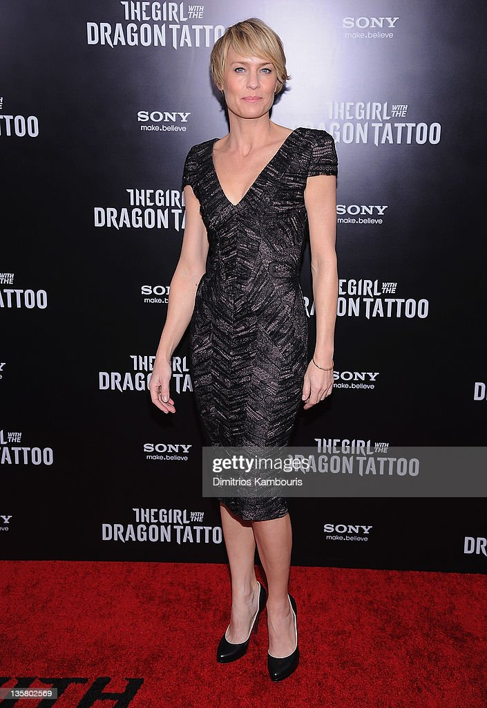 Robin Wright attends the 'The Girl With the Dragon Tattoo' New York premiere at Ziegfeld Theater on December 14, 2011 in New York City.
