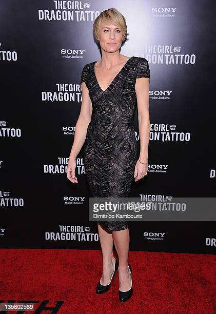 Robin Wright attends the 'The Girl With the Dragon Tattoo' New York premiere at Ziegfeld Theater on December 14 2011 in New York City
