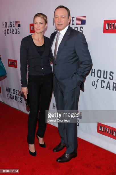 Robin Wright Kevin Spacey attends the Netflix's 'House Of Cards' New York Premiere at Alice Tully Hall on January 30 2013 in New York City