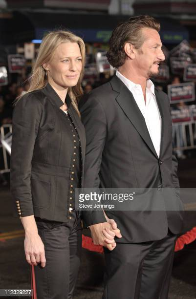 Robin Wright Penn and Sean Penn attend the premiere of 'Milk' hosted by Levi's at the Castro Theater on October 28 2008 in San Francisco California
