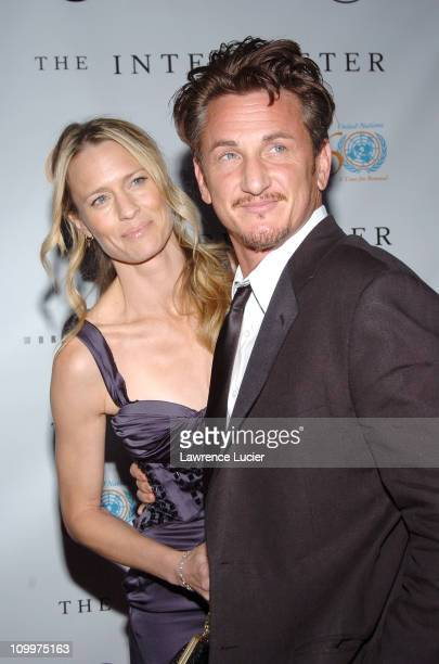 Robin Wright Penn and Sean Penn during 4th Annual Tribeca Film Festival The Interpreter Premiere Arrivals at Ziegfeld Theater in New York City New...