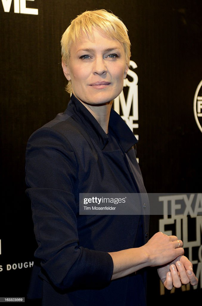 Robin Wright poses at the Texas Film Hall of Fame Awards at Austin Studios on March 7, 2013 in Austin, Texas.
