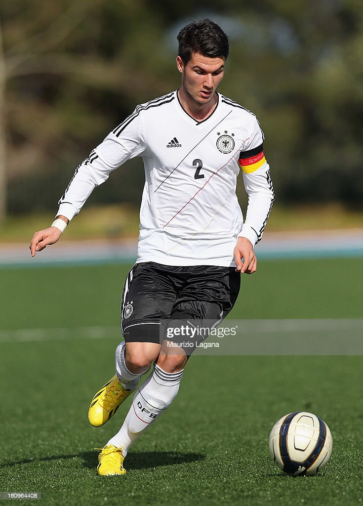 Robin Yalcin of Germany during Under 19 International Friendly match between Italy and Germany at Stadio Comunale San Pio on February 6, 2013 in Santo Spirito near Bari, Italy.