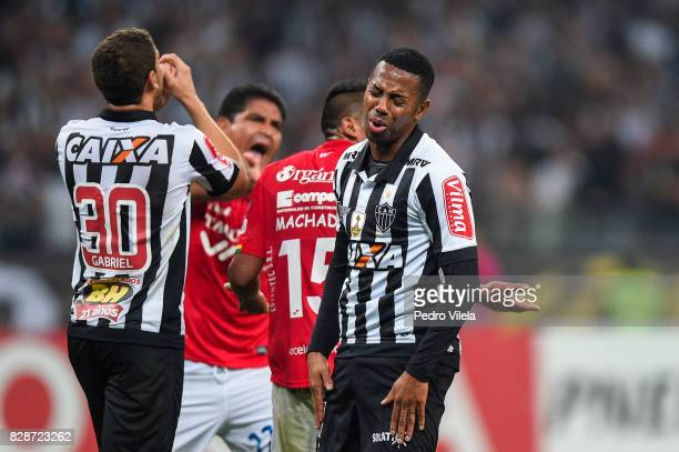 Robinho of Atletico MG during a match between Atletico MG and Jorge Wilstermann as part of Copa Bridgestone Libertadores 2017 at Mineirao Stadium on...