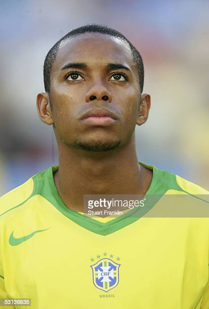 Robinho of Brazil at The FIFA Confederations Cup Match between Japan and Brazil at The Rhein Energy Stadium on June 22 2005 in Cologne Germany