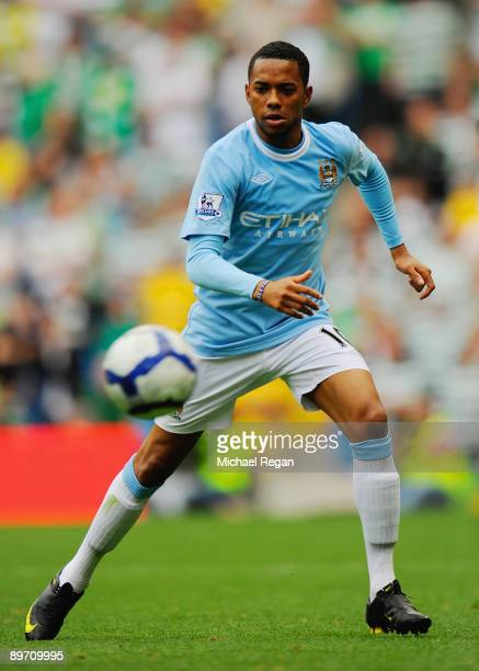 Robinho of Manchester City during the pre season friendly match between Manchester City and Celtic at the City of Manchester Stadium on August 8 2009...