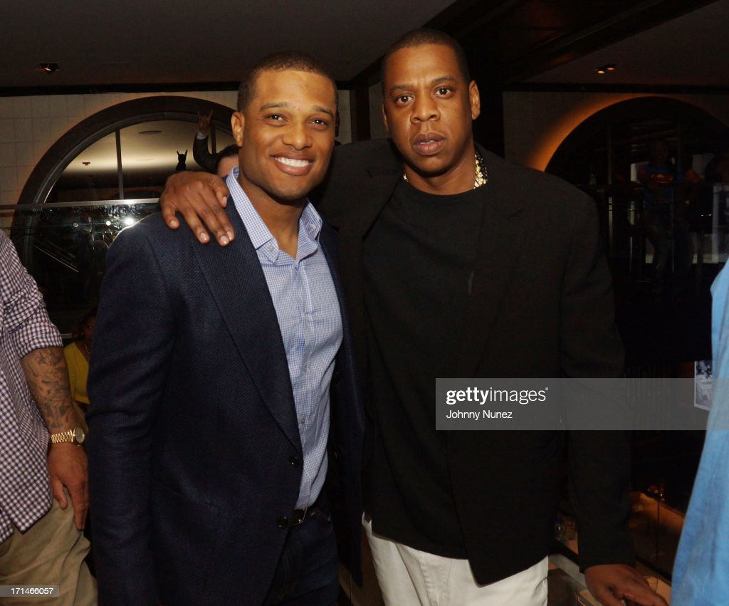 <a gi-track='captionPersonalityLinkClicked' href=/galleries/search?phrase=Robinson+Cano&family=editorial&specificpeople=538362 ng-click='$event.stopPropagation()'>Robinson Cano</a> and <a gi-track='captionPersonalityLinkClicked' href=/galleries/search?phrase=Jay-Z&family=editorial&specificpeople=201664 ng-click='$event.stopPropagation()'>Jay-Z</a> attend The 'Super Heroes' Fundraiser And Domino Tournament at The 40/40 Club on June 24, 2013 in New York City.