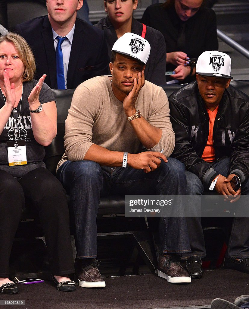 <a gi-track='captionPersonalityLinkClicked' href=/galleries/search?phrase=Robinson+Cano&family=editorial&specificpeople=538362 ng-click='$event.stopPropagation()'>Robinson Cano</a> attends the Chicago Bulls Vs Brooklyn Nets Playoff Game at the Barclays Center on May 4, 2013 in the Brooklyn borough of New York City.