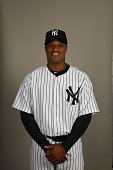 Robinson Cano of the New York Yankees poses during Photo Day on Thursday February 25 2010 at Steinbrenner Field in Tampa Florida
