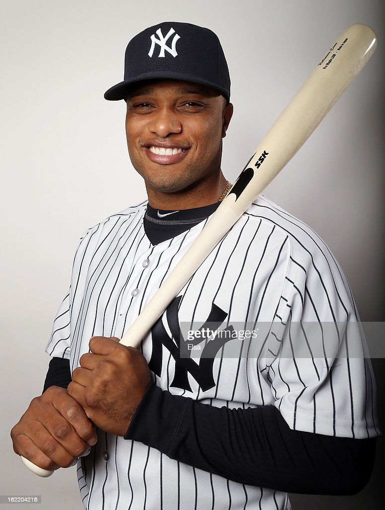<a gi-track='captionPersonalityLinkClicked' href=/galleries/search?phrase=Robinson+Cano&family=editorial&specificpeople=538362 ng-click='$event.stopPropagation()'>Robinson Cano</a> #24 of the New York Yankees poses for a portrait on February 20, 2013 at George Steinbrenner Stadium in Tampa, Florida.