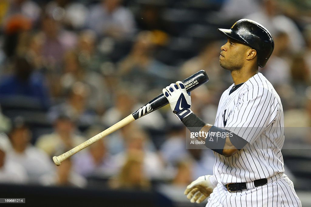 <a gi-track='captionPersonalityLinkClicked' href=/galleries/search?phrase=Robinson+Cano&family=editorial&specificpeople=538362 ng-click='$event.stopPropagation()'>Robinson Cano</a> #24 of the New York Yankees reacts after striking out against the New York Mets during their game on May 30, 2013 at Yankee Stadium in the Bronx borough of New York City