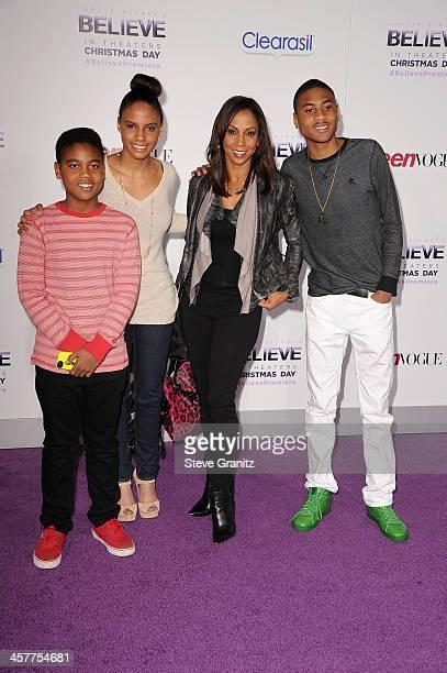 Robinson Peete Ryan Elizabeth Peete Holly Robinson and Rodney Peete Jr attend 'Justin Bieber's Believe' world premiere at Regal Cinemas LA Live on...