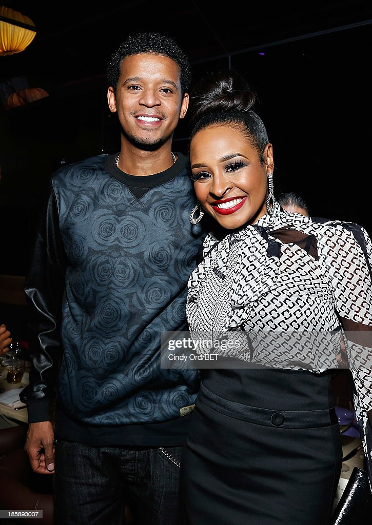 Roble Ali and Janell Snowden attend the 2013 Black Girls Rock Shot Callers Dinner on October 25, 2013 in New York City.