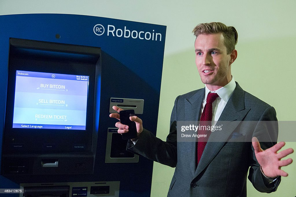 Robocoin CEO and cofounder Jordan Kelley speaks to the media about the Robocoin Bitcoin ATM during a demonstration of the ATM in the Rayburn House...