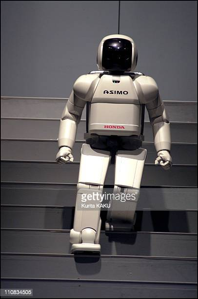Robofesta2001 International Robot Games Festival In Yokohama In Nagoya Japan On November 16 2001 Honda's Asimo can dance Asimo will be a receptionist...