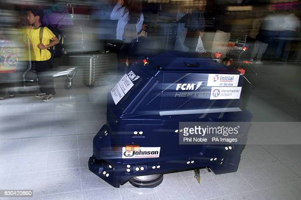 'Robomop' the UK's first talking Vacuum cleaner in operation at Manchester Airport The 35000 cleaner issues security warnings and asks travellers...