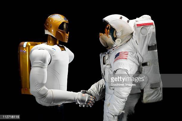 Robonaut 2, a dexterous, humanoid astronaut helper.