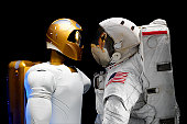 Robonaut 2, a dexterous, humanoid astronaut helper. Although it will initially only participate in operational tests, upgrades could eventually allow the robot to realize its true purpose, helping spa