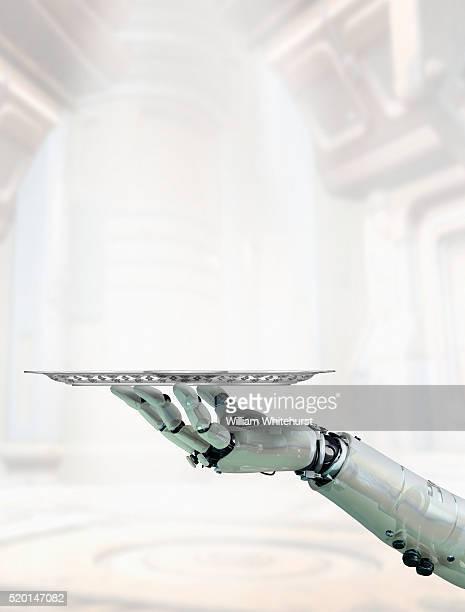 Robot Arm Silver Platter