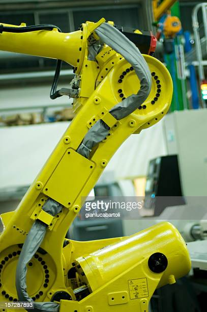 Robot at work in line production
