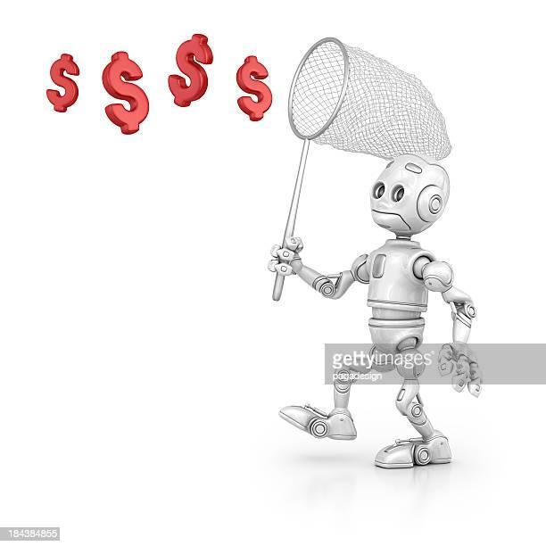 ロボットを引くドル記号