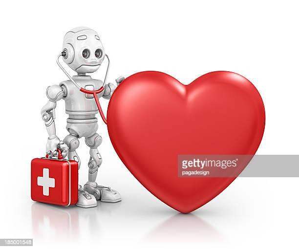 robot doctor examine heart