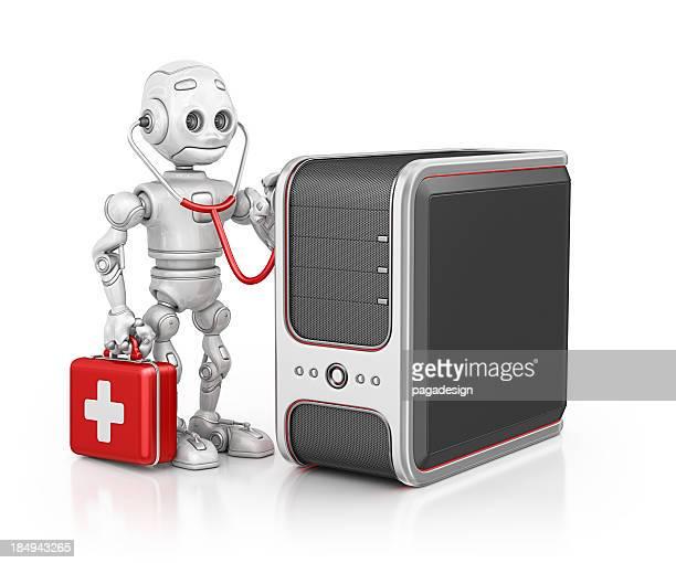 robot doctor examine pc