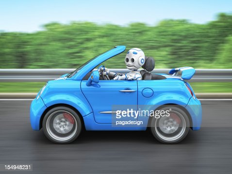 robot driving car : Stockfoto