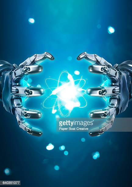 Robot hand controlling atomic nuclear reaction