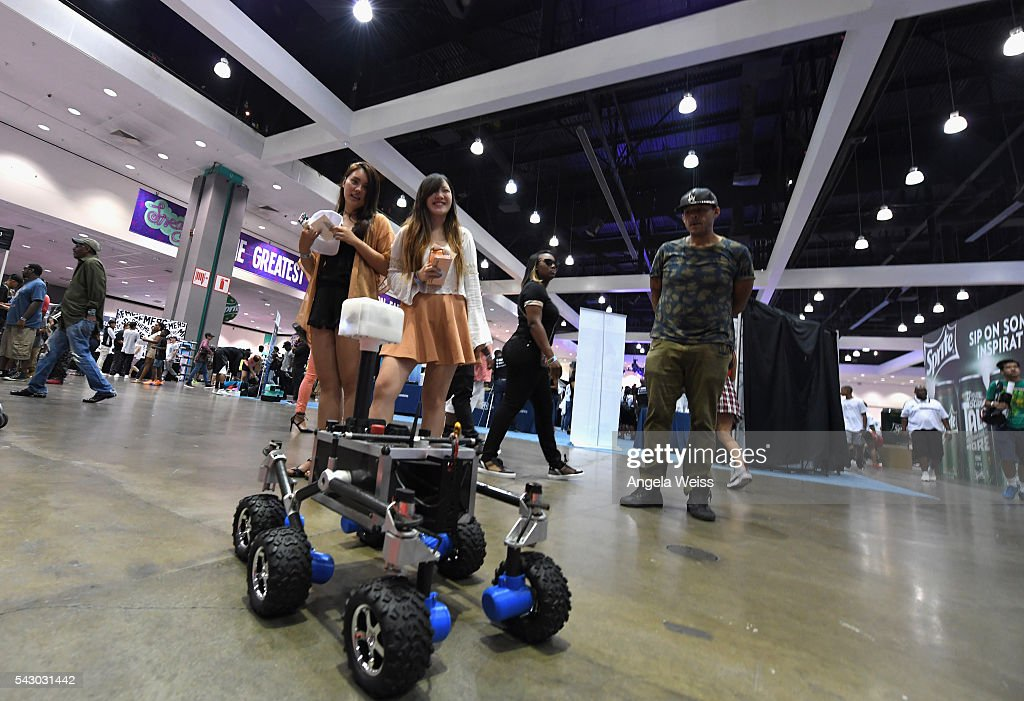 A robot is displayed at FAN FEST during the 2016 BET Experience on June 25, 2016 in Los Angeles, California.