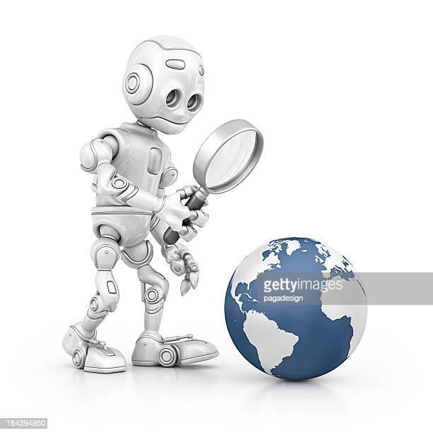 robot la recherche de la terre