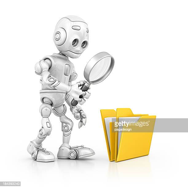 robot searching file
