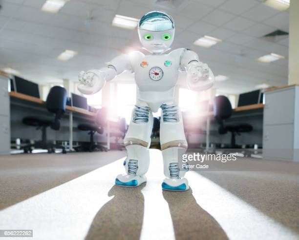 Robot stood in office building