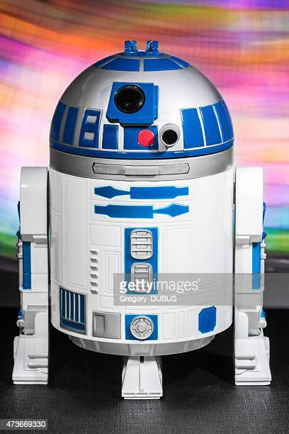 R2-D2 robot toy from Star Wars saga movie