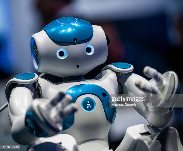 Robot 'WATSON' from IBM is presented during the second day of the annual Mobile World Congress one of the most important events for mobile...