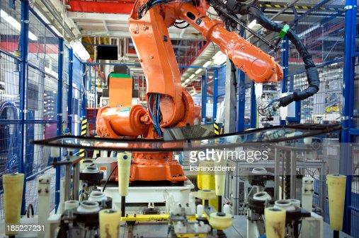 Bras robotisé, Auto de production