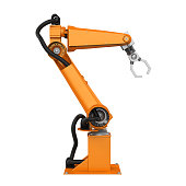 Robotic Arm isolated on white background. 3D render