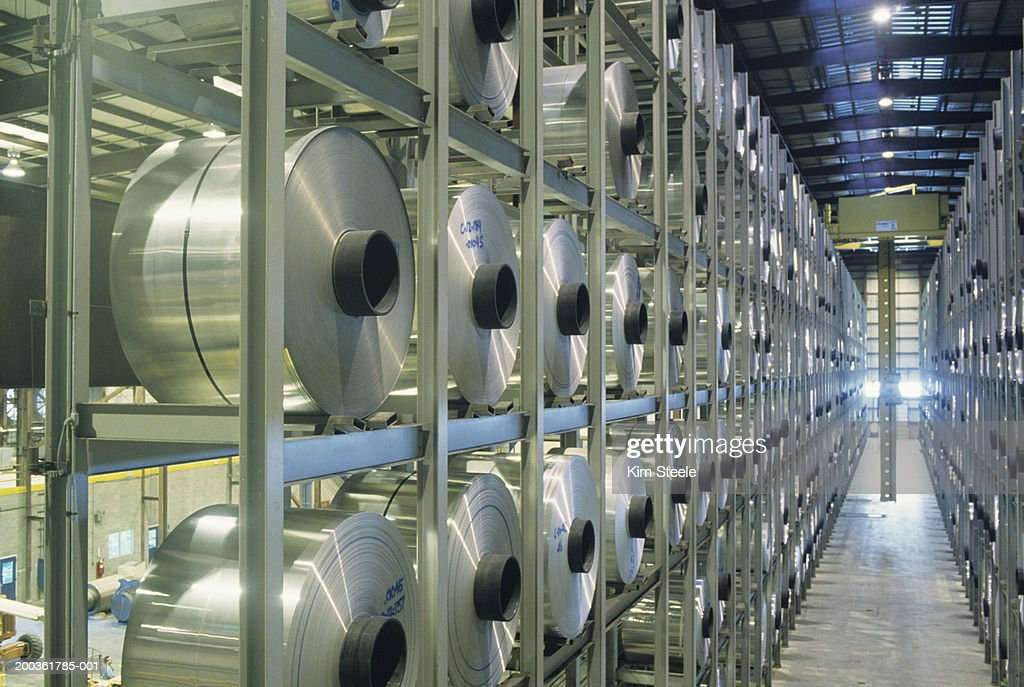 Robotic storage unit in Aluminium plant