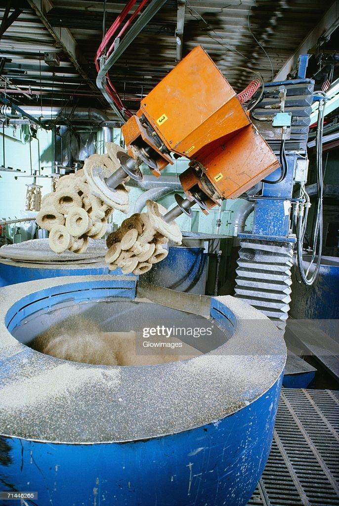 Robots being used to mold plastics