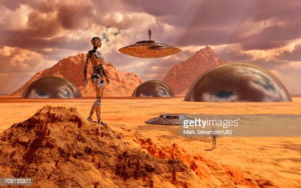Robots Helping To Terraforming The Surface Of Mars