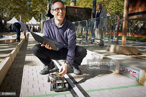 A robots race took place in Toulouse France on 28 September 2016 Machines are either cars or walking robots They were supposed to run a 110 meters...