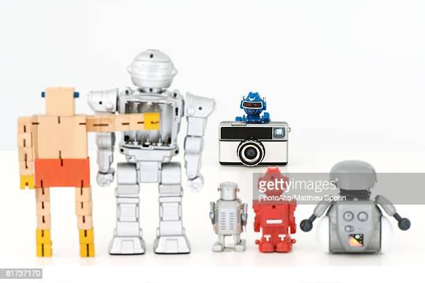 Robots taking group photo