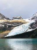 View on the Mount Robson glacier, part of Robson Provincial park in British Columbia, Canada.