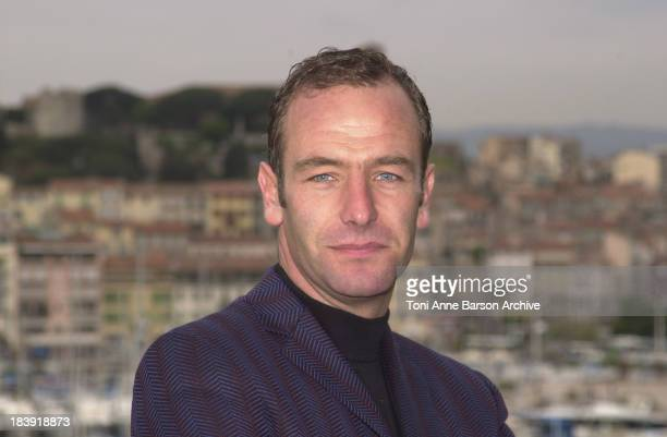 Robson Green during MIPTV 2002 Wire in the Blood Robson Green Hermione Norris Photocall at Palais des Festivals in Cannes France