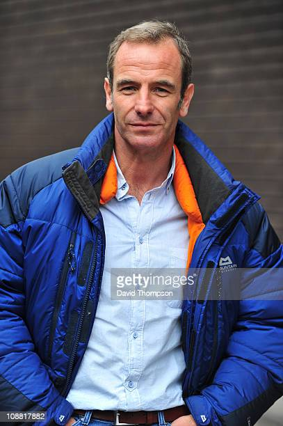Robson Green seen leaving ITV studio's on February 4 2011 in London England