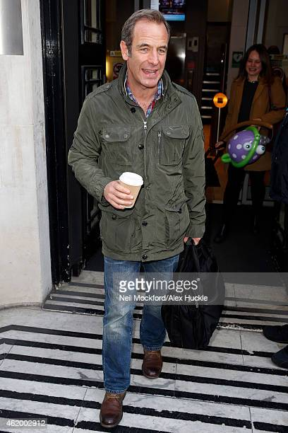 Robson Green seen leaving the BBC Radio 2 Studios on January 23 2015 in London England