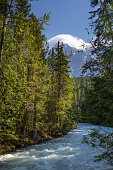 Robson River and Mount Robson, British Columbia, Canada
