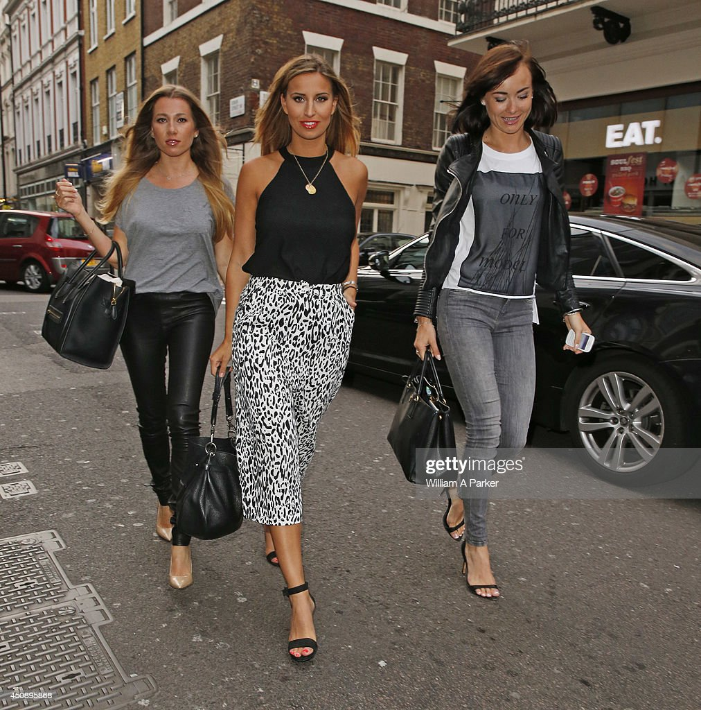Robyn Althasen, Ferne McCann and Imogen Leaver seen arriving at The Arts Club on June 19, 2014 in London, England.